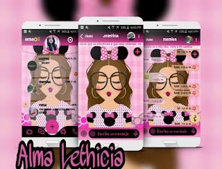 Sweet Girls Theme For YOWhatsApp & Fouad WhatsApp By Alma Lethicia