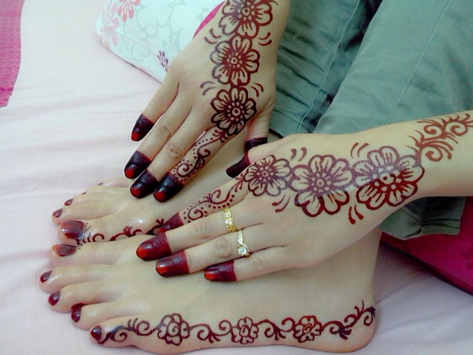 Contoh Henna Simple Di Kaki