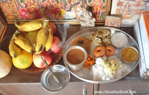 Tamil new year lunch menu