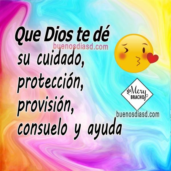 Frases cristianas de Buenos días, mensajes con imágenes bonitas de buen día, Dios te bendiga por Mery Bracho.