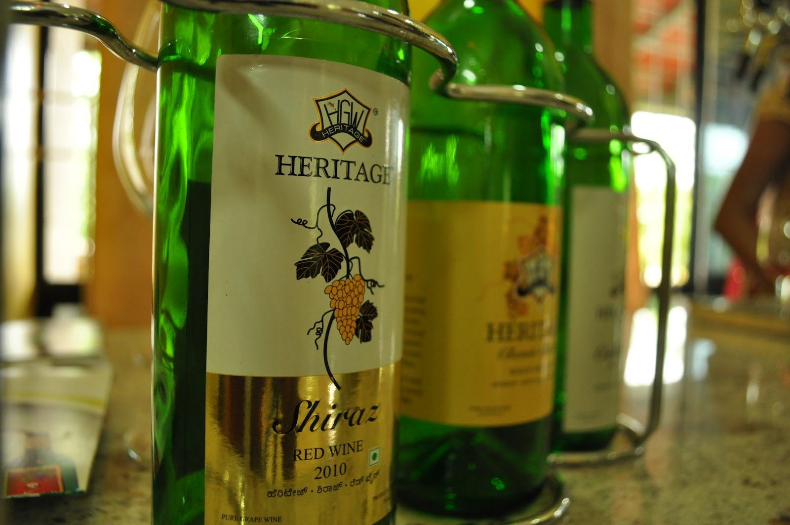 heritage wine tasting tour, heritage wines, wine tasting india, heritage wine tasting, wine tour bangalore