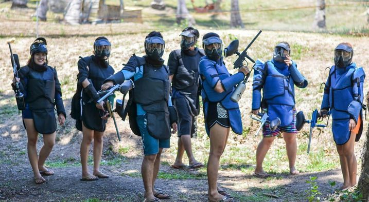 Playing paintball at Puerto Galera