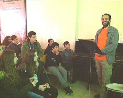 Παρουσίαση του ιαπωνικού πνευστού οργάνου σακουχάτσι στο Μουσικό Σχολείο Κατερίνης.