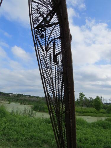 Hart Montague Rail Trail sculpture