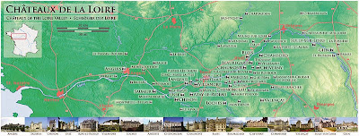 Mapa de los Castillos del Loira.