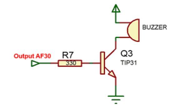 Implementasi sensor Gas AF30 dengan sistem kendali analog