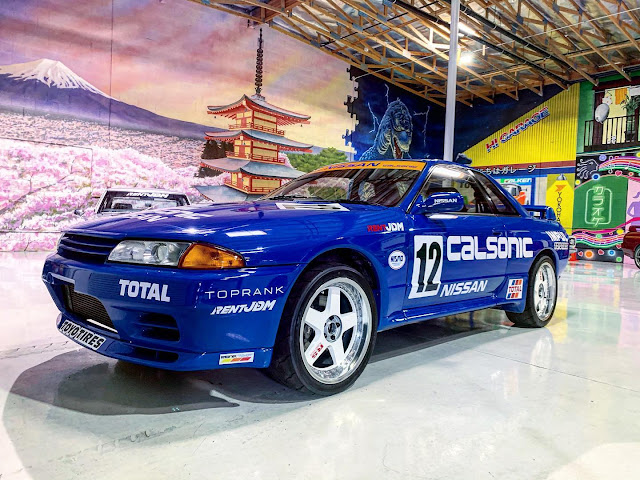 Calsonic Group A race car themed R32 GT-R at RentJDM