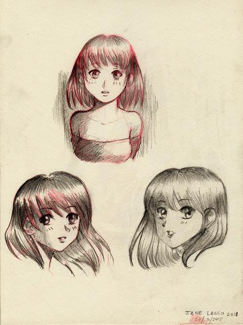 Dibujos de caras manga