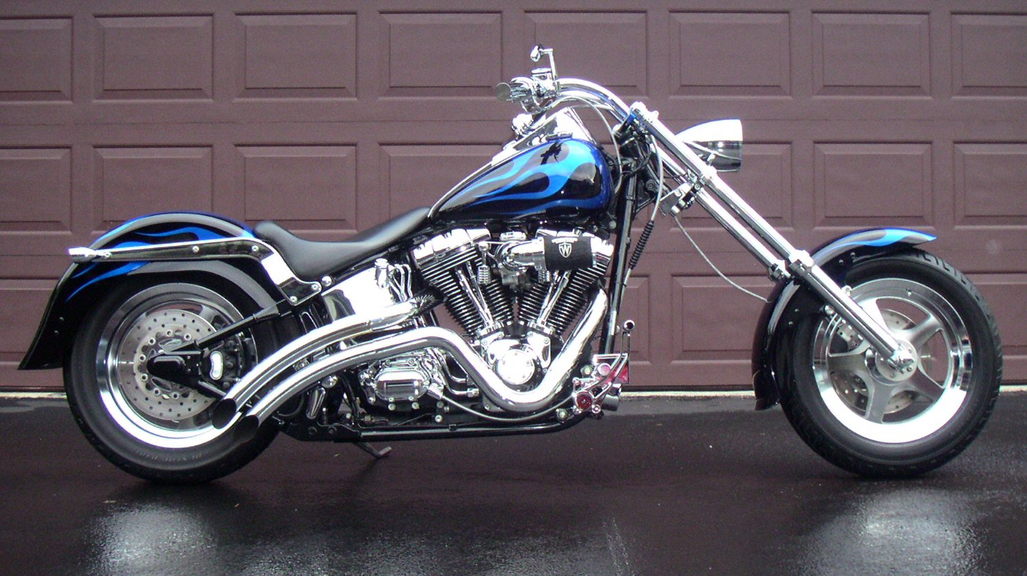 harley davidson chopper fatboy free hd wallpaper. Black Bedroom Furniture Sets. Home Design Ideas