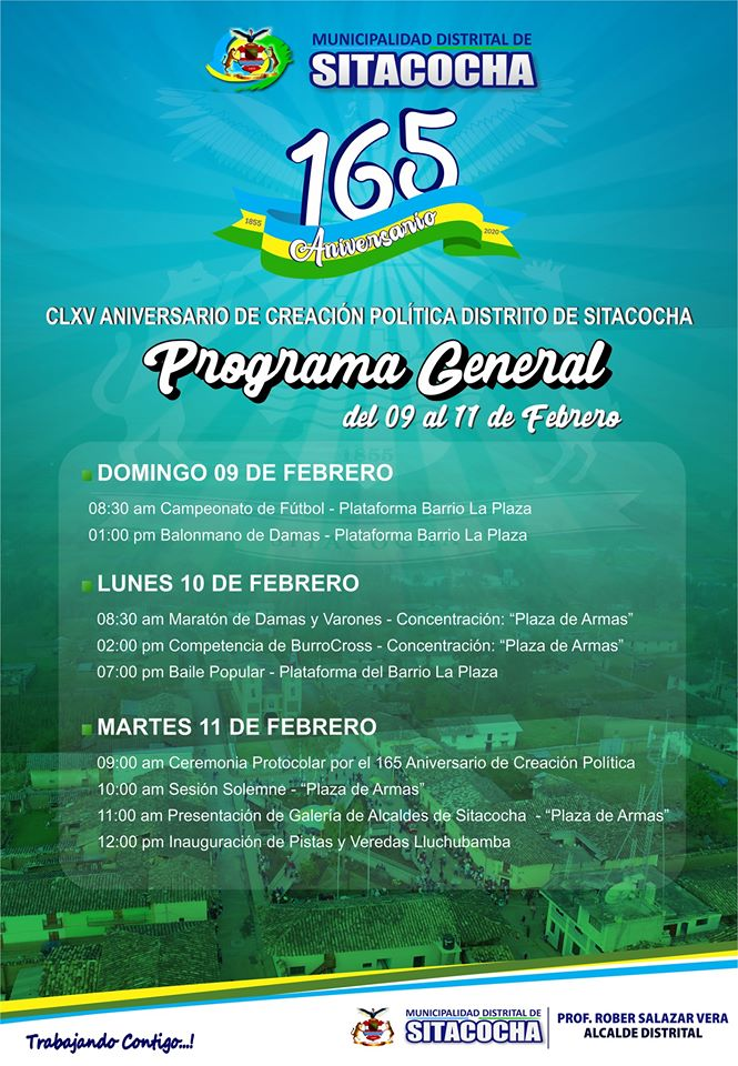 165 Aniversario del distrito de Sitacocha