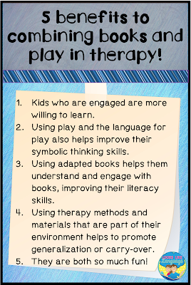 5 benefits to combining books and play in speech/language therapy
