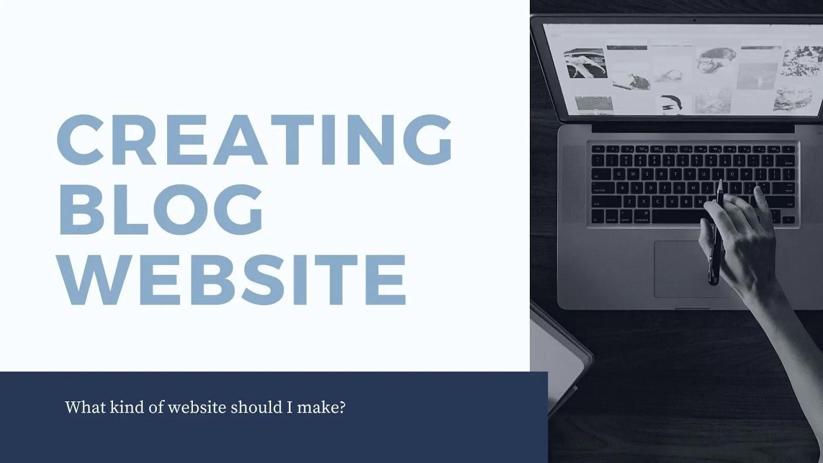 Creating a blog website