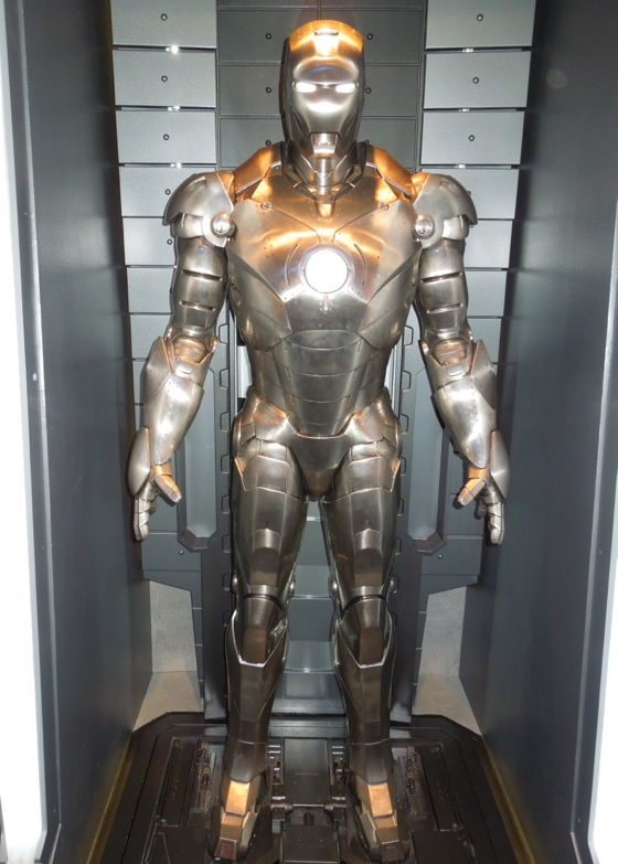 Silver Iron Man Mark II suit