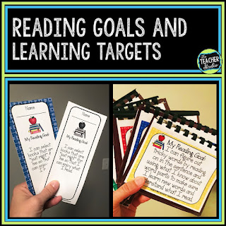 reading goals, reading targets, learning targets, readers workshop, reading intervention