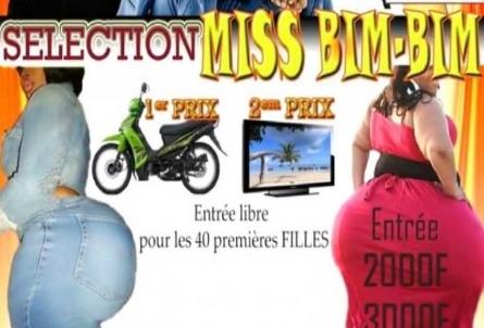 miss bim bim contest banned by burkina faso