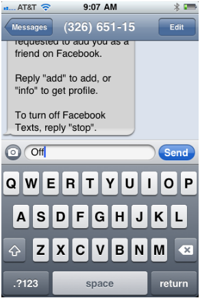 How to Stop Facebook Texts