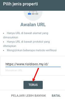 Daftar blog ke google