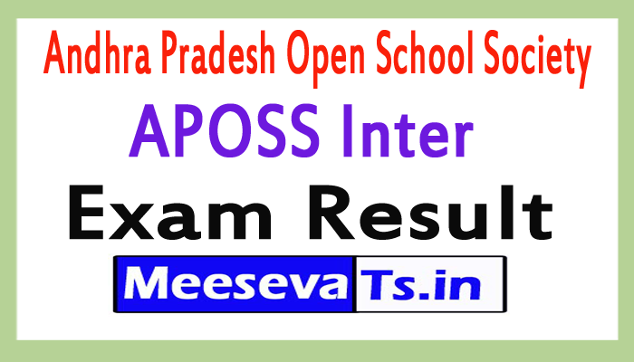 Andhra Pradesh Open School Society APOSS Inter Exam Results 2017