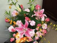 生けられた花々