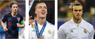 Modric, Bale, Vasquez, modric real madrid, bale real madrid, lucas vazquez real madrid