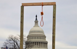 Gallows in front of U.S. Capitol