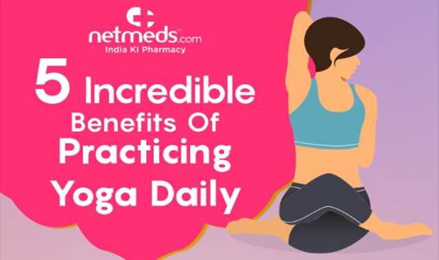 Asanas Daily For A Healthy Life International Yoga Day #infographic