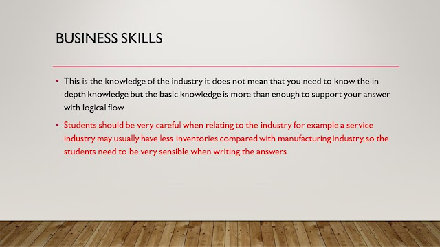 Business Skills in CIMA OCS case study