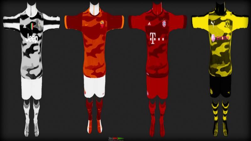 Ultigamerz: PES 2013 Top Teams Camouflage Fantasy 2015-16 Kits