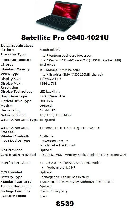 تعريفات توشيبا Satellitec640 : Driver Toshiba Satellite C640 Xp 32 Bit Gallery : Nadeem may 23 ...