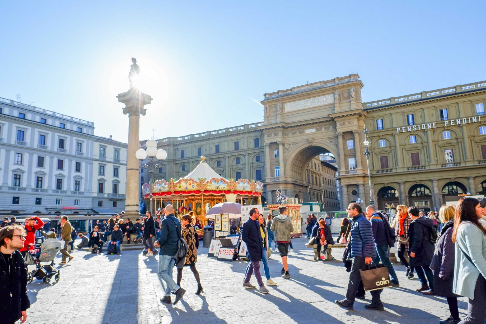 Piazza della Repubblica, Florence Italy, carousel florence italy, 19th century building, italian architecture
