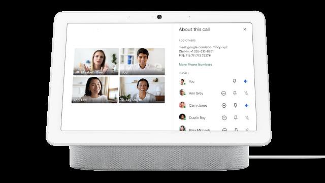 Improved Google Meet experience on the Nest Hub Max 2