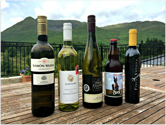 The wines used at Delphi Resort Connemara Food and Wine Series Summer 2016