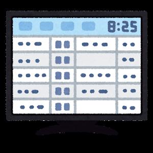 電子化されたタイムカードのイラスト(PC画面)