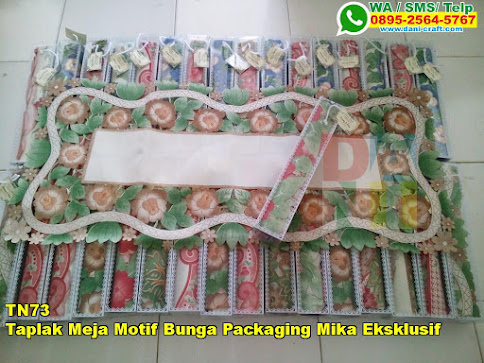 Toko Taplak Meja Motif Bunga Packaging Mika Eksklusif