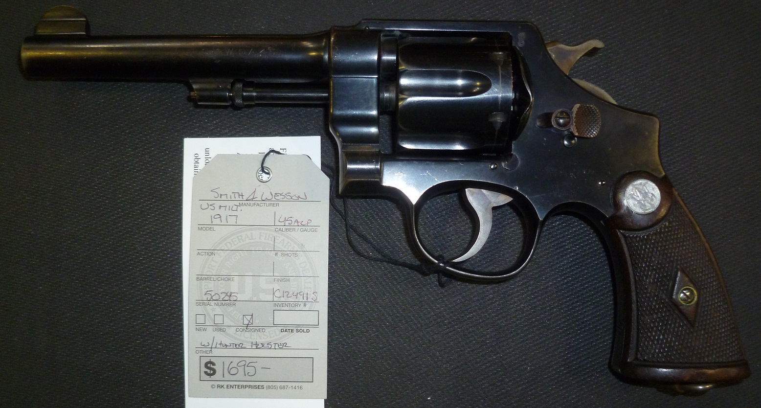 smith and wesson model 1917 revolver serial numbers