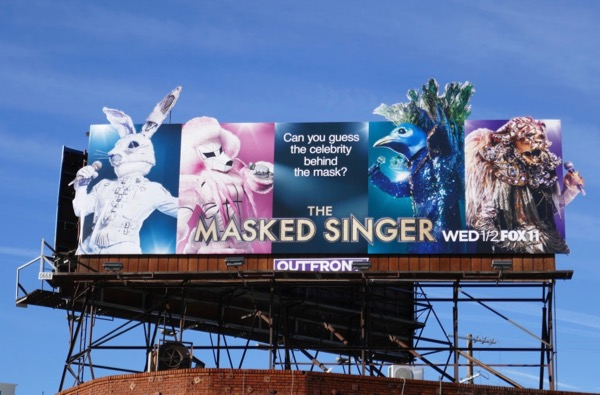 Masked Singer special extension cut-out billboard