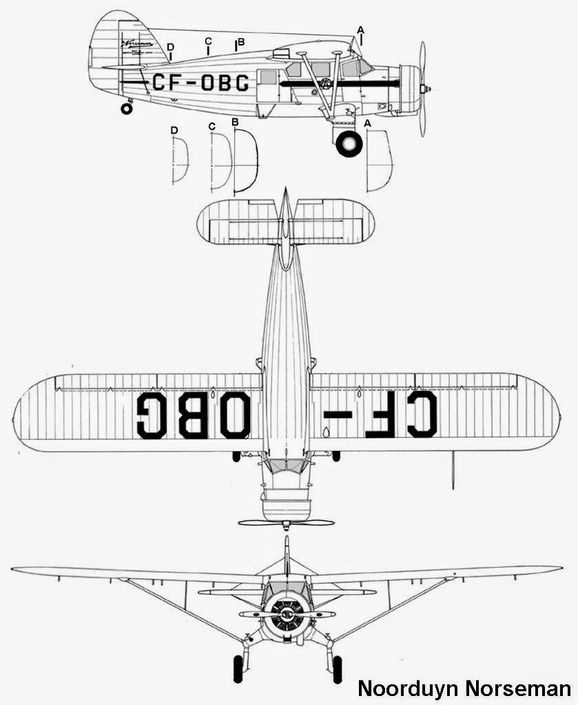 airplane scale modelkit  noorduyn noorseman c