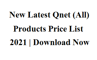 New Latest Qnet (All) Products Price List 2021
