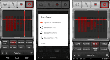 Aplikasi Efek Suara Vokal - RoboVox Voice Changer