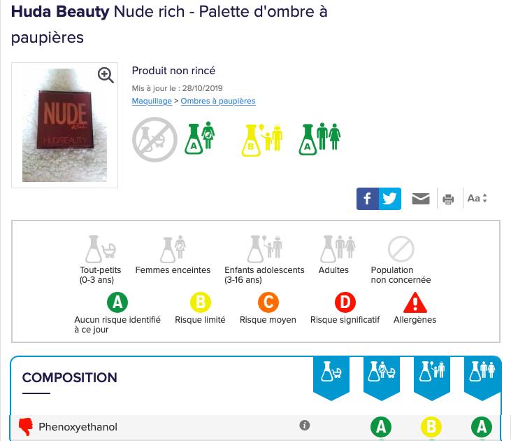 composition Palette Nude Rich de Huda Beauty