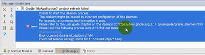 Cara Mengatasi Error Android Studio: Could not reserve enough space for object heap