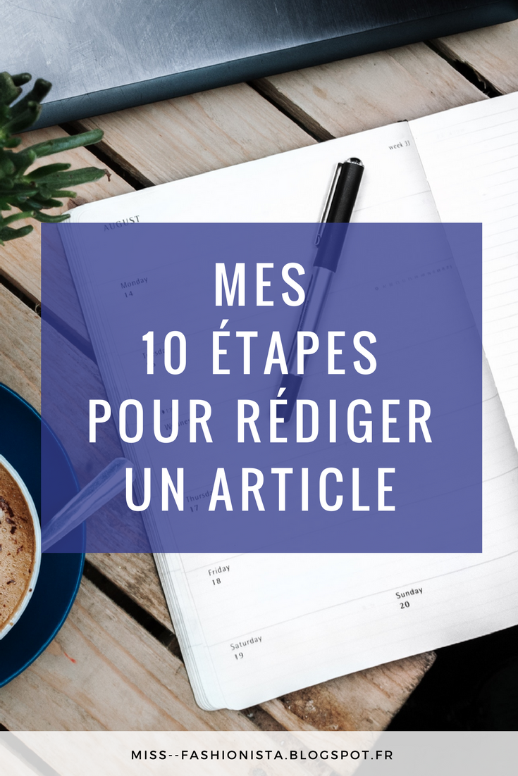 comment j'écris un article ?