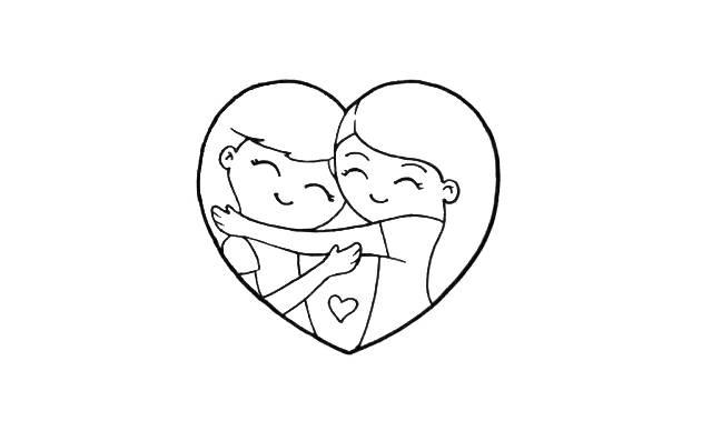 dibujos faciles de amistad de amigas abrazadas