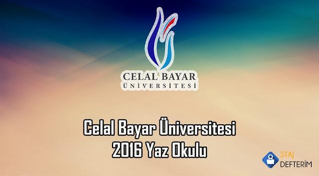 Celal Bayar Üniversitesi 2016 Yaz Okulu
