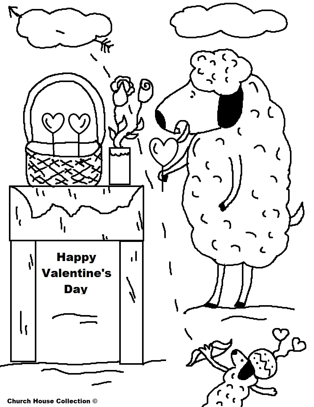 valentine coloring pages for teachers - photo #14