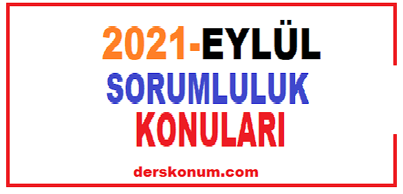 2021 EYLÜL SORUMLULUK SINAV KONULARI