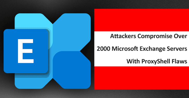 Warning! Attackers Compromise Over 2000 Microsoft Exchange Servers With ProxyShell Flaws