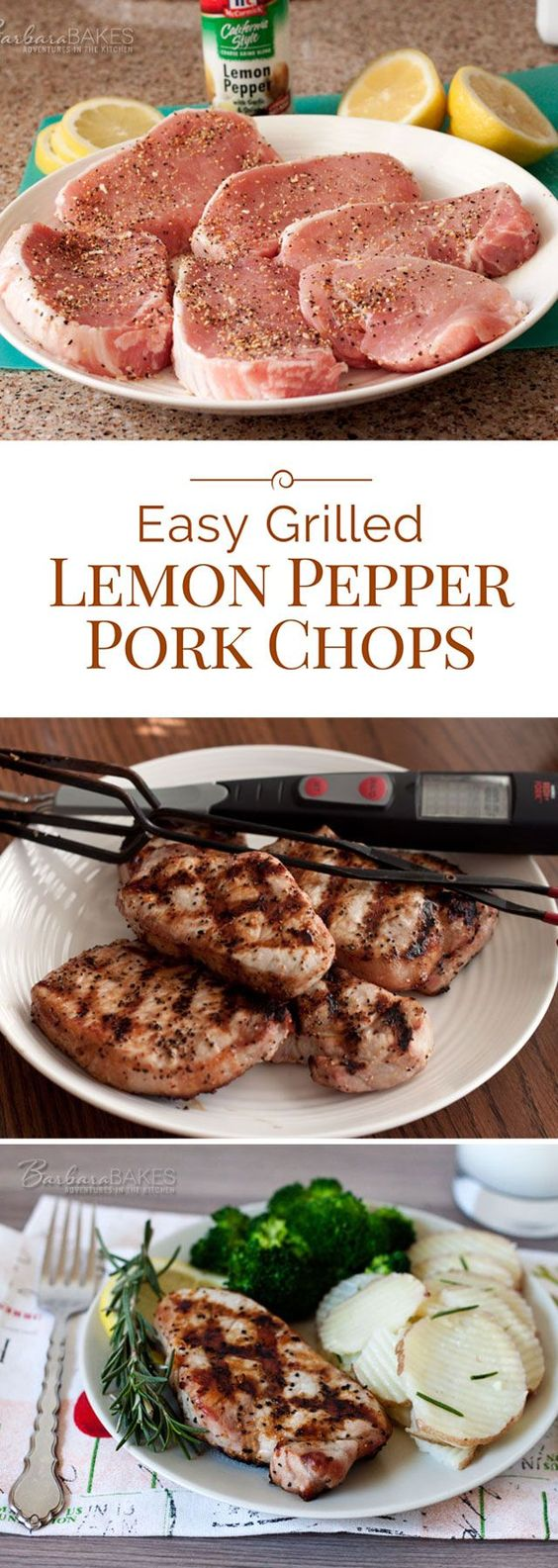EASY GRILLED LEMON PEPPER PORK CHOPS