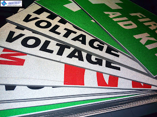 Reflective Stickers on Sintra Board Signs
