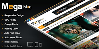 Mega mag blogger template free download